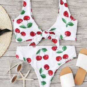 Other - Fruit Print Knot Bikini Set